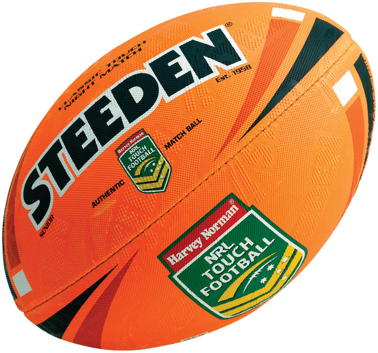 Steeden Classic Touch Night Touch Football - Fluro/White_16862