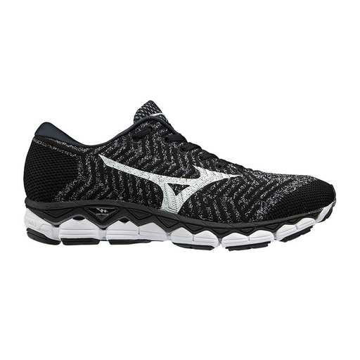 Mizuno Waveknit S1 Mens Running Shoe - Black/White/Silver_J1GC182502
