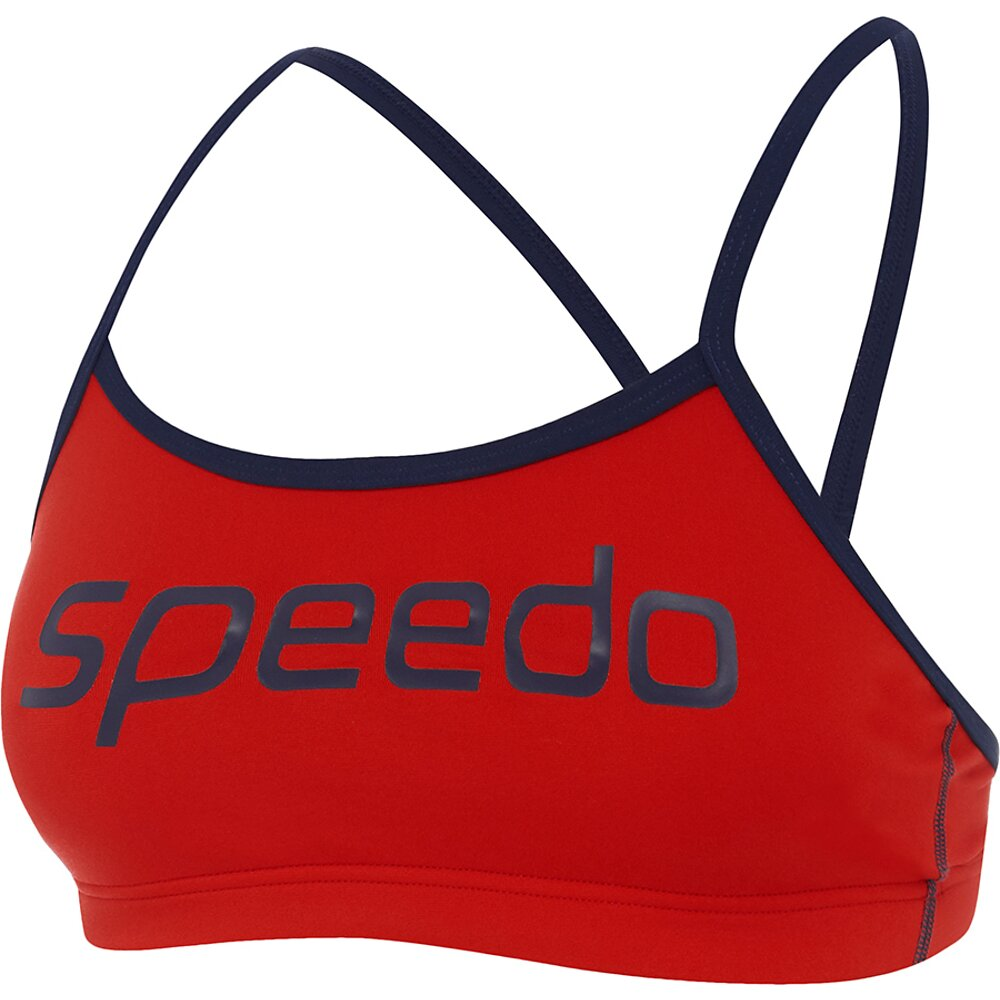 Speedo Endurance+ Crop Top-Speedo Navy/Fire_2203A/6865