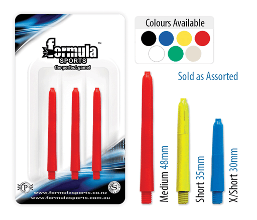 Formula Nylon Extra Short Assorted Colours Dart Shafts