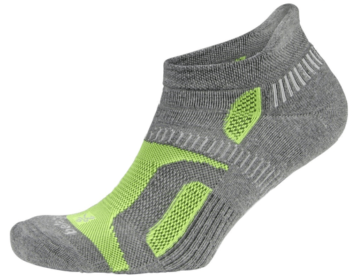Balega Medium Hidden Contour Socks - Charcoal/Green