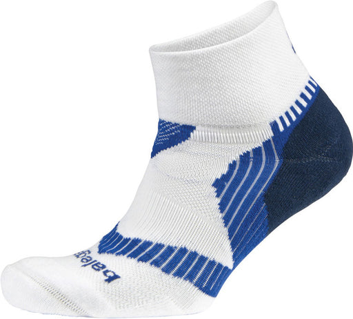 Balega Extra Large Enduro V-Tech Quarter Socks - White/Ink/Cobalt
