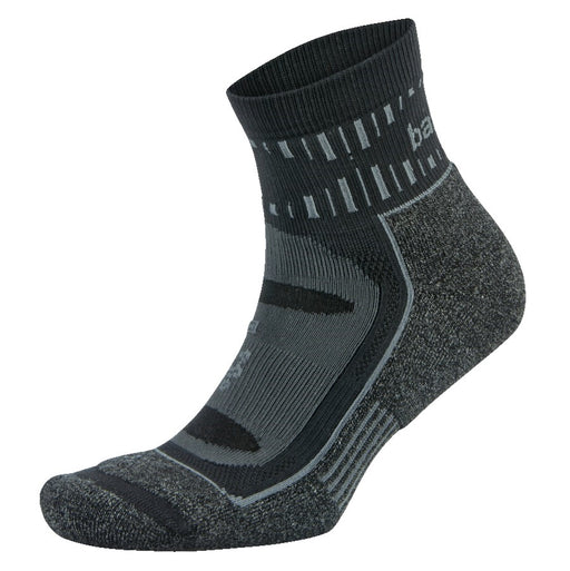 302294_Balega Blister Resist Quarter Socks - Grey/Black (Size-XL)