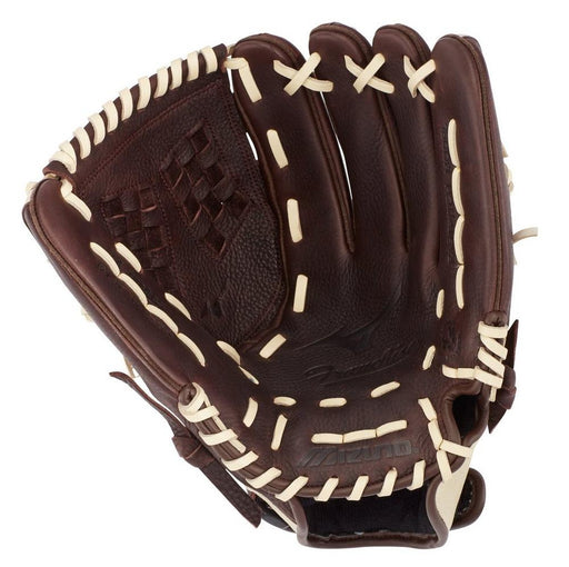 Mizuno Franchise 12-inch Baseball Softball Glove - Coffee/Silver (RHT) 312715