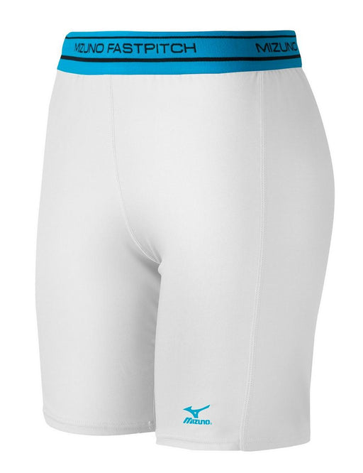 Mizuno Womens Softball Compression Sliding Short - White