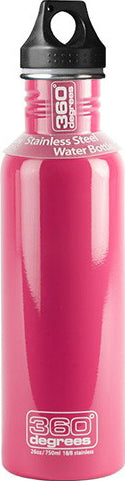 360 Degrees 0.75L Pink Stainless Steel Bottle_360SSB750PNK