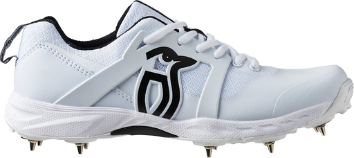 Kookaburra Pro 2000 Spike Cricket Shoes - White/Black 3R1911