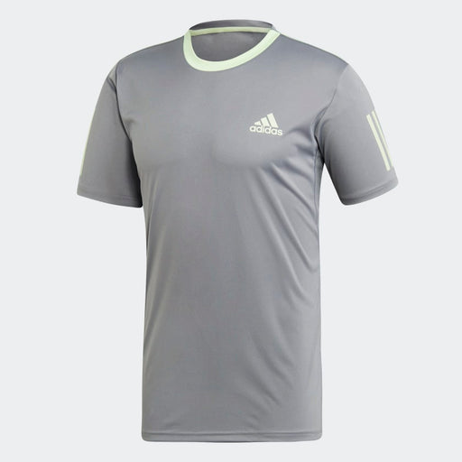 Adidas 3-Stripes Club  Mens Tee - Grey/Green_EC3836