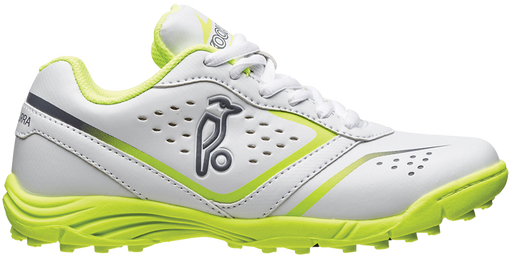 Kookaburra Pro 500 Junior Rubber Cricket Shoe- White/Lime