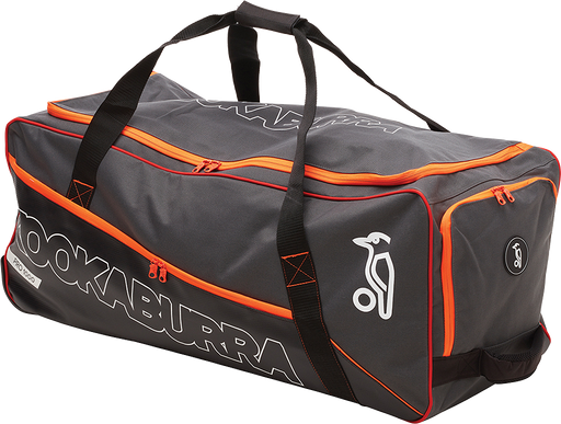 Kookaburra Pro 1000 Cricket Wheel Bag - Charcoal/Orange_3S18103