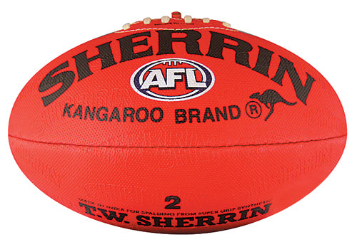 Sherrin Synthetic Size 2 AFL Ball - Red_4221