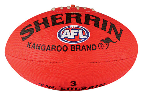 Sherrin Synthetic Size 3 AFL Ball - Red