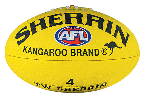 Sherrin Synthetic Size 4 AFL Ball - Yellow