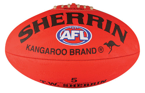 Sherrin Synthetic Size 5 AFL Ball - Red_4251