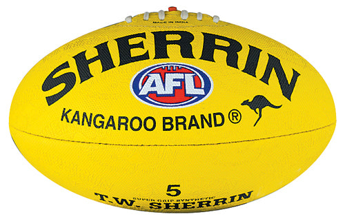 Sherrin Synthetic Size 5 AFL Ball - Yellow_4252