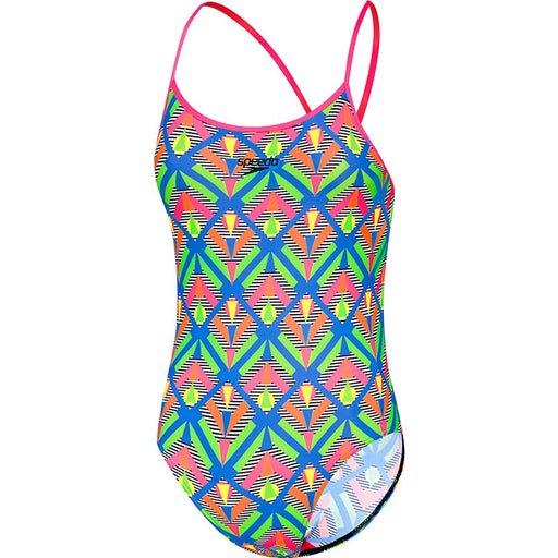 Speedo Girls Squad Sierra One Piece-Geo/Multi_4255G/7946