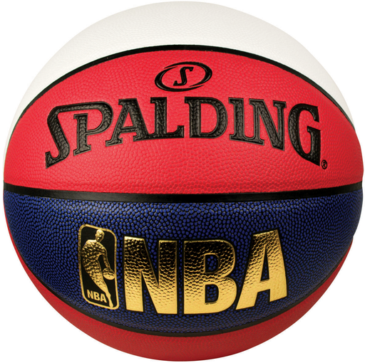 Spalding NBA Logoman Size 7 Indoor/Outdoor Basketball - Red/White/Blue