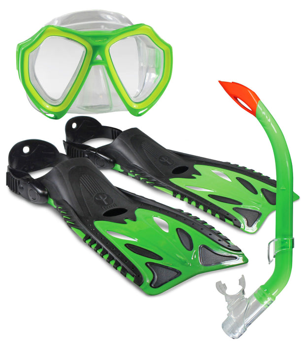 6116016064_Land & Sea Nipper Junior Snorkel Set - Lime