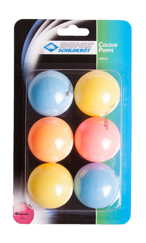 Donic Jade 6 Pack Table Tennis Balls - Colour Popps