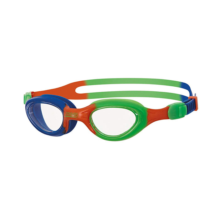 Zoggs Little Super Seal Junior Swim Goggles-Blue/Orange/Green_303851