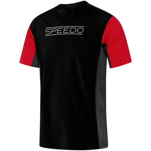 7793D/7501_Speedo Mens Motion Relaxed Ss Rashie - Black