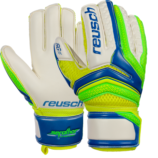 Reusch Serathor SG FS Junior Size 4 Goal Keeping Glove - Blue
