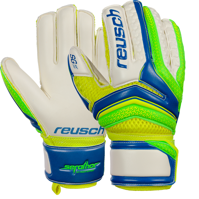 Reusch Serathor SG FS Junior Size 4 Goal Keeping Glove - Blue_86055