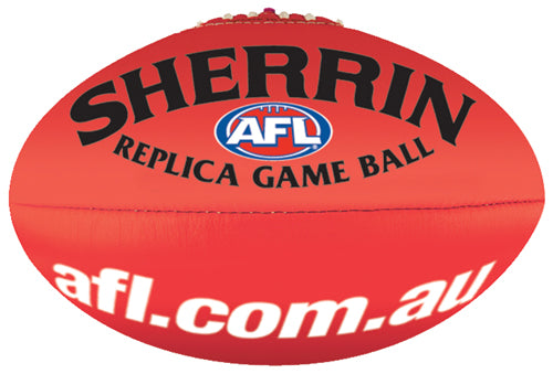 Sherrin Leather Replica Size 5 AFL Ball-Red