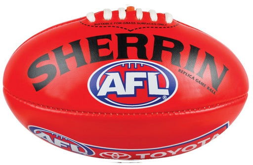 Sherrin Synthetic Replica Size 5 AFL Ball-Red_4251/REPLICA