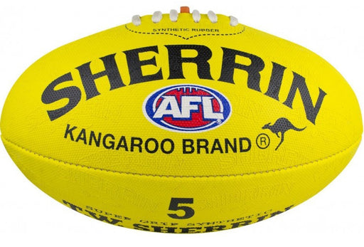 Sherrin Synthetic Replica Size 5 AFL Ball-Yellow