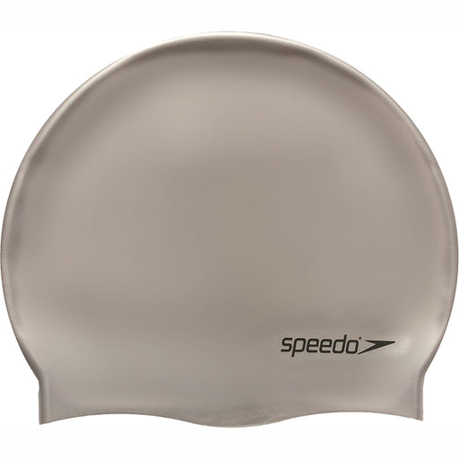 Speedo Plain Moulded Silicone Swim Cap - Chrome