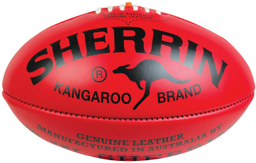 Sherrin KB Leather Size 4 AFL Ball - Red