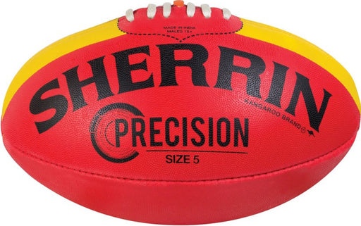 Sherrin Synthetic Precision Size 4 AFL Ball - Red_4241/KIK