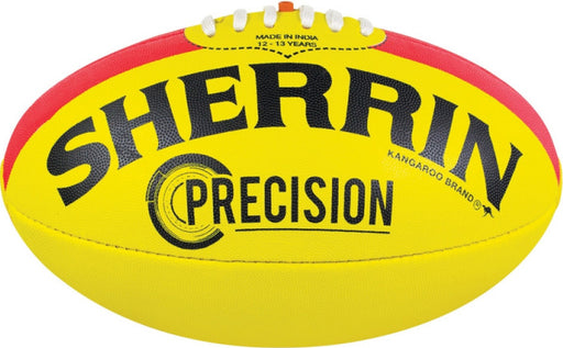Sherrin Synthetic Precision Size 5 AFL Ball - Yellow_4252/KIK