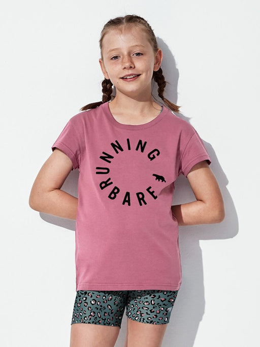 Running Bare Girls Hear Me Roar Tee - Rosewood_9S25746H