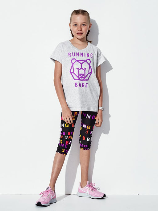 Running Bare Girls Hear Me Roar Tee - Snow Marle_9S25746T