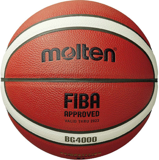 Molten  BG4000 Premium Composite Size 7 Leather Basketball - Orange/Ivory