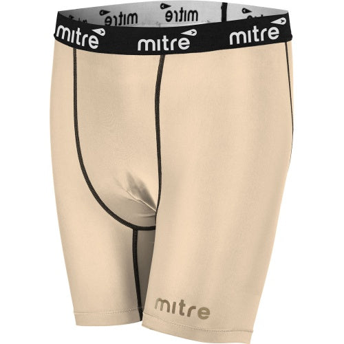 Mitre Neutron Compression Shorts - Beige_T60013BE1