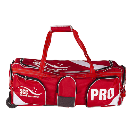 SCC Pro Wheelie Cricket Bag - Red