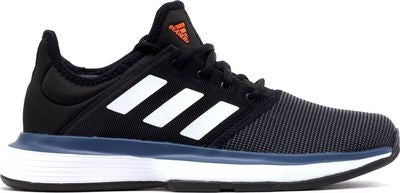 Adidas Solecourt Xj Junior Tennis Shoe - Black/White