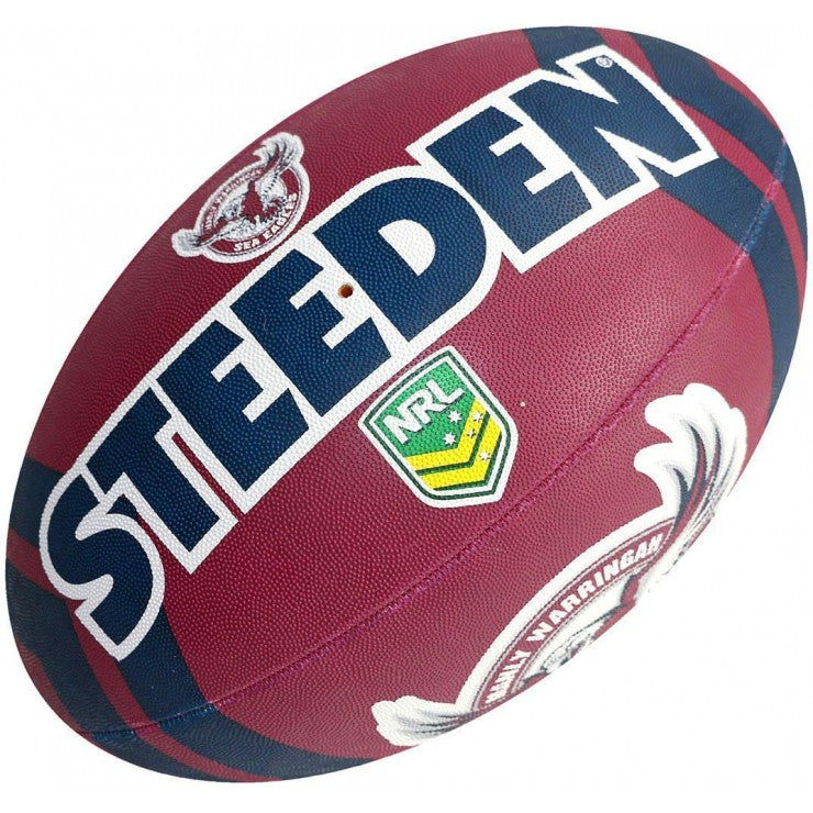 19761-EAG-5_Steeden Manly Sea Eagles Supporter NRL Ball (Size 5)