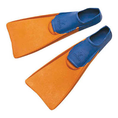 Eyeline Size 5-7 Swim Fins - Orange/Blue