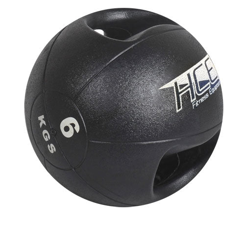 HCE Double Grip 6Kg Medicine Ball - Black_MD-1006-SP