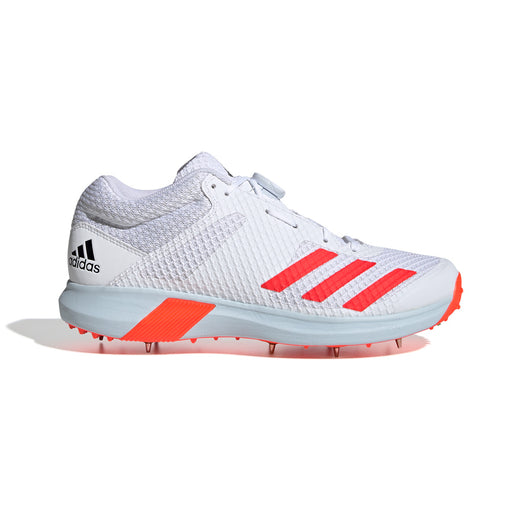 Adidas Adipower Vector Mid Cricket Shoe - White/Solar Red_EF3504