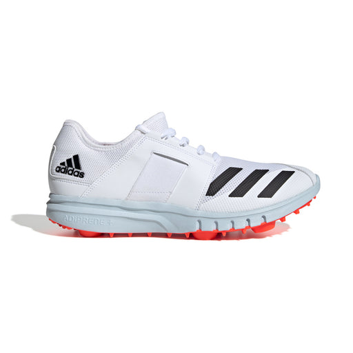 Adidas Howzat Junior Spike Cricket Shoe - White/Core Black/Solar Red_EF3508