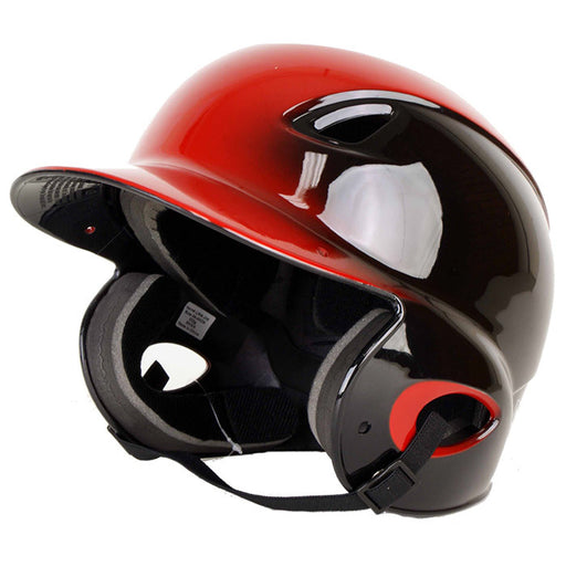 MVP Adjustable Dial-Fit Baseball Batting Helmet - Black/Red_AD00365