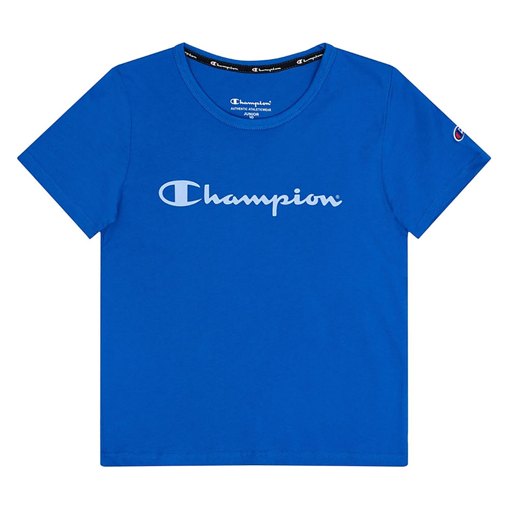 Champion Script Boys Short-Sleeve Tee - Blue KXA8N-XQX