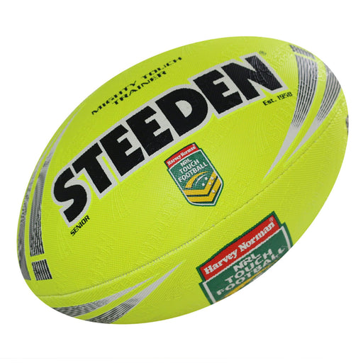 Steeden NRL Mighty Touch Trainer Mini Ball Junior - Yellow_16925-Mini