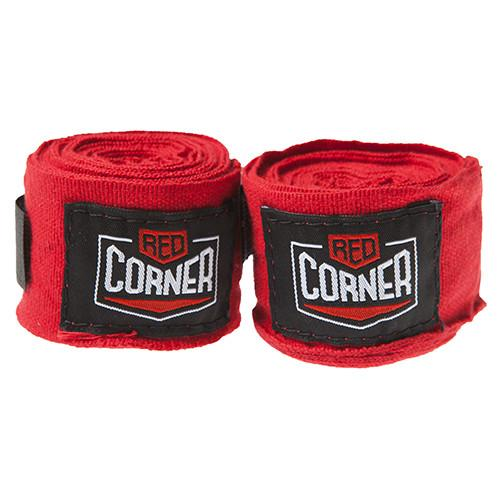 Red Corner Hand Wraps-Red