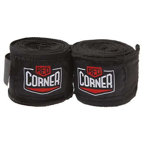 Red Corner Hand Wraps-Black